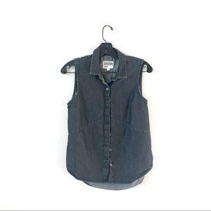 Vans Sleeveless Button Down Denim Shirt